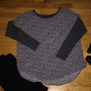 Anthropologie Lou & Grey Mixed Media Jersey Top